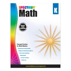 Carson Dellosa Spectrum Math Workbook Kindergarten