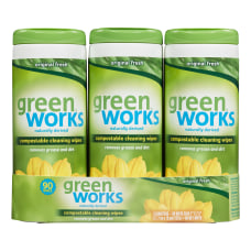 Green Works Compostable Cleaning Wipes Clean