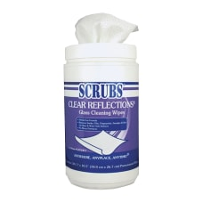 Scrubs Clear Reflections Glass Cleaner Wipes
