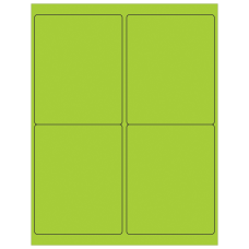 Office Depot Brand Labels LL181GN Rectangle