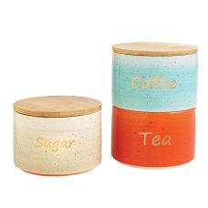 Orbit 3 Piece Ceramic Canister Set