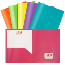 JAM Paper POP Plastic 2 Pocket