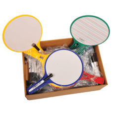 KleenSlate Round Dry Erase Whiteboards Set
