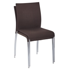 Ave Six Conway Stacking Chairs ChocolateSilver