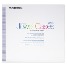 Memorex Slim CD Jewel Cases Clear