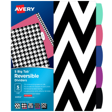 Avery Big Tab Write On ReversibleErasable