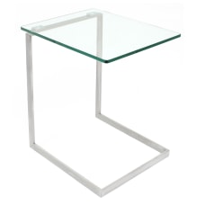 Lumisource Zenn Square End Table ClearChrome