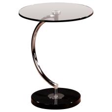Lumisource Round End Table ChromeBlack Base