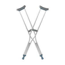 DMI Aluminum Crutches Tall Adult Pack