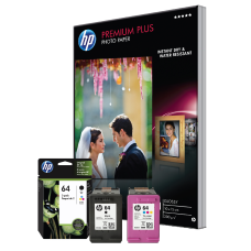 HP 64 BlackTri Color Ink Cartridges