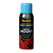 Scotch Spray Mount Spray Adhesive Clear