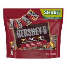 Hersheys Miniatures Dark Chocolate Candy Assortment