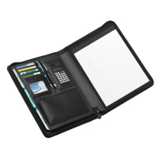 Office Depot Brand Leather Padfolio Zipper