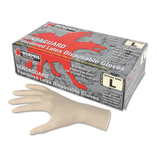 Memphis Gloves Disposable Gauntlet Powdered Latex