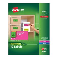 Avery Removable LaserInkjet Organization Labels 6481