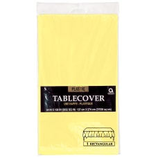 Amscan Rectangular Plastic Table Covers 54