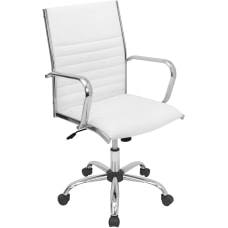 LumiSource Master Bonded Leatherette Office Chair