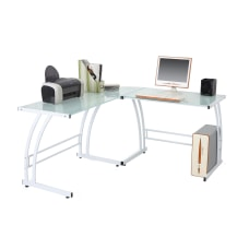 Lumisource Gamma GlassMetal Workstation White
