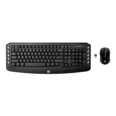 HP Classic Wireless Keyboard Mouse Straight