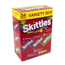 Skittles Variety Pack Box Of 34