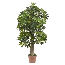Nearly Natural 4 Schefflera Tree Green