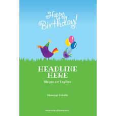 Custom A Frame Sign Birthday Birds