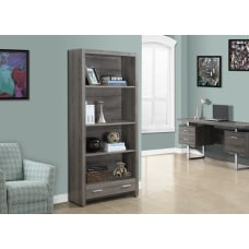 Monarch Specialties 3 Shelf Bookcase With