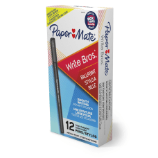Paper Mate Ballpoint Stick Pens Medium