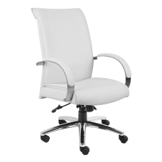 Boss Aaria Vinyl High Back Chair
