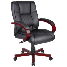 Boss Office Products Vinyl Mid Back