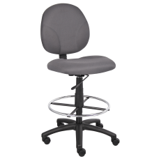 Boss Stand Up Fabric Drafting Stool