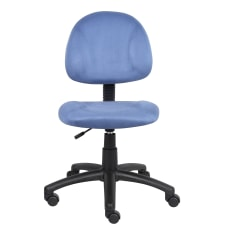 Boss Microfiber Task Chair Blue