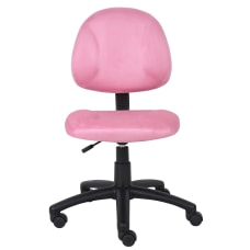 Boss Microfiber Task Chair Pink