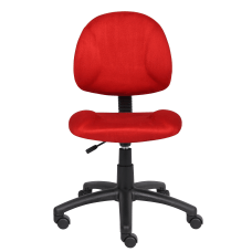 Boss Microfiber Task Chair Red