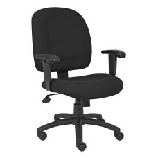 Boss Chenille Task Chair Black