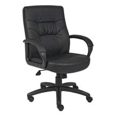 Boss Office Products Ergonomic Bonded LeatherPlus