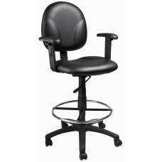 Boss Antimicrobial Drafting Stool with Adjustable