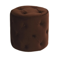 Ave Six Curves Tufted Round Ottoman