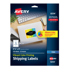 Avery Inkjet Shipping Labels For Color