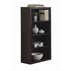 Monarch Specialties 3 Shelf Bookcase Cappuccino