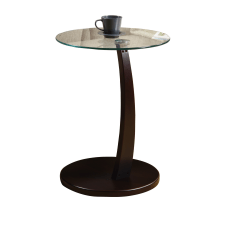 Monarch Specialties Glass Top Accent Table