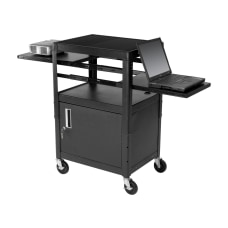 Balt Dual Adjustable Laptop Cart Black