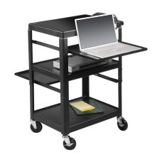 Balt Adjustable Laptop Cart Black