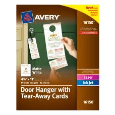 Avery Door Hangers With Tear Away