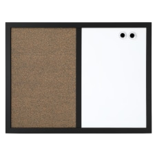 FORAY Magnetic Dry EraseCork Combo Board