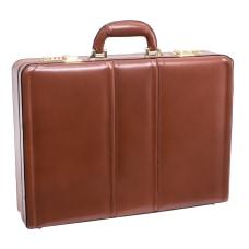 McKleinUSA Daley Leather Attach Case Brown