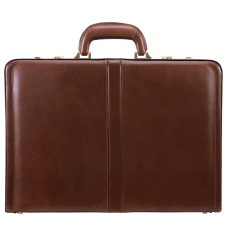 McKleinUSA Reagan Leather Attach Case Brown