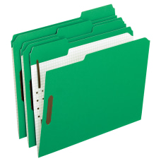 Oxford Interior Grid Folders With Fasteners