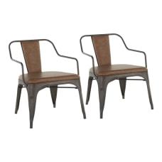 LumiSource Oregon Accent Chairs AntiqueEspresso Set