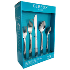 Gibson Home Creston 20 Piece Flatware